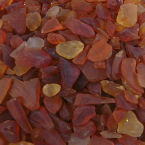 BEACH GLASS - SMALL AMBER