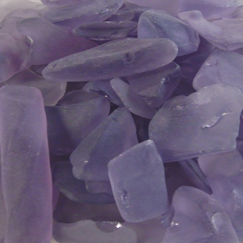 BEACH GLASS - LARGE AMETHYST
