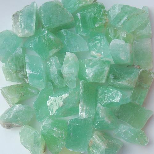 POLISHED GREEN CALCITE PIECES