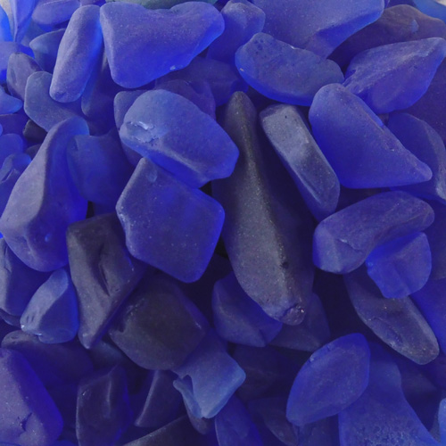 BEACH GLASS - LARGE COBALT