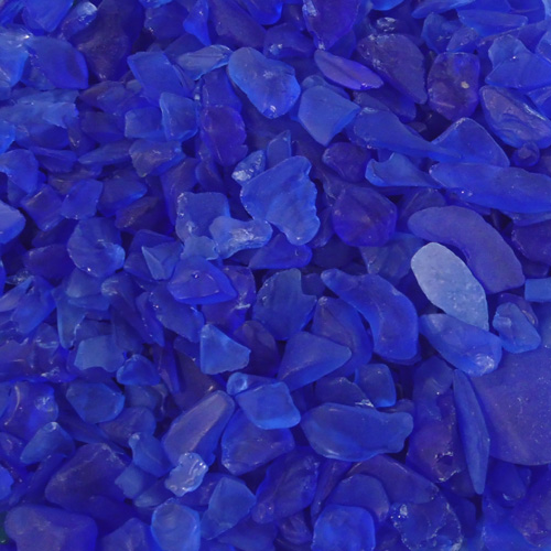 BEACH GLASS - SMALL COBALT