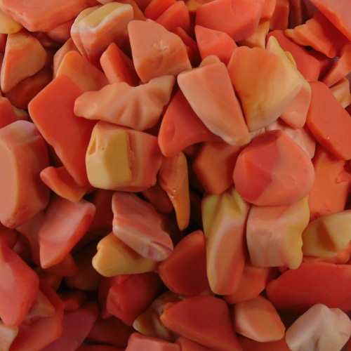 BEACH GLASS - LARGE MESA ORANGE