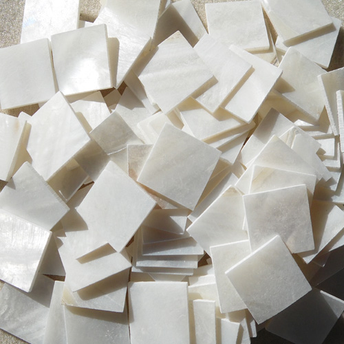 "3/4"" (20MM) SQUARE - WHITE MOP TILES"