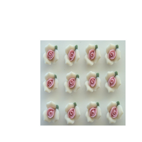 "1/2"" IVORY ROSES"