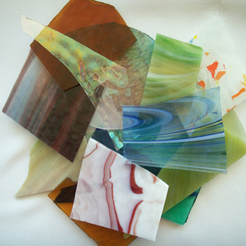 STAINED GLASS SCRAPS - LG