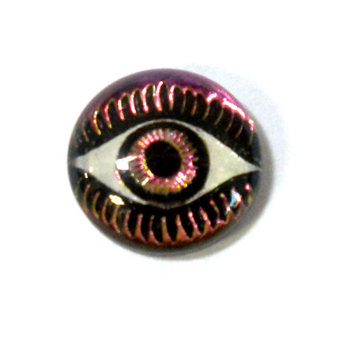 12MM MYSTERIOUS EYES FUCHSIA/LIME
