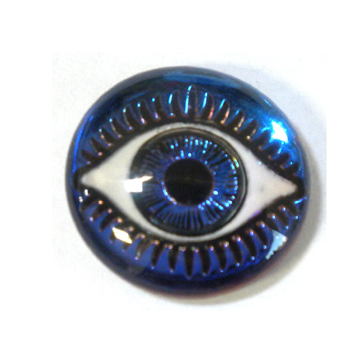 18MM MYSTERIOUS EYES AQUA/BLUE/PURPLE