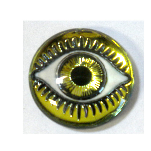 18MM MYSTERIOUS EYES YELLOW/LIME