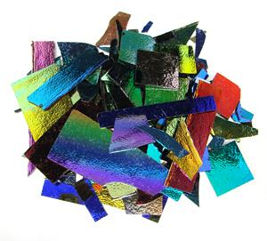 SMOOTH BLACK SOLID DICHROIC SCRAPS