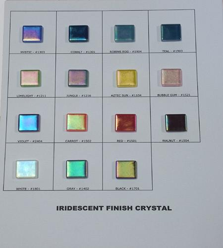 IRIDESCENT FINISH CRYSTAL SAMPLEBOARD