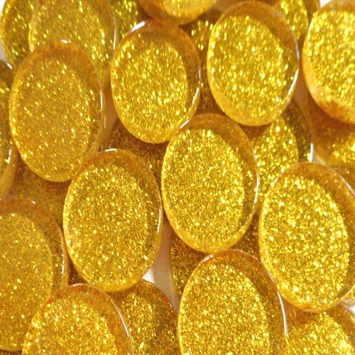 20MM GLITTER ROUND - BRIGHT GOLD