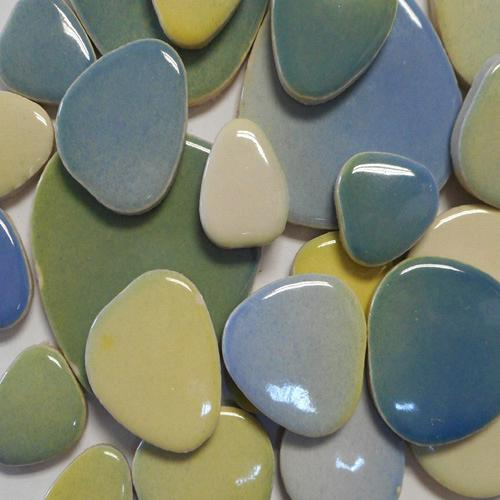 CERAMIC PEBBLES- BEACHY MIX