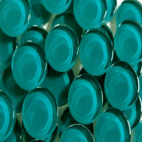 20MM CRYSTAL ROUND TILE - DEEP OCEAN