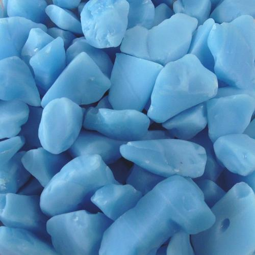 BEACH GLASS - LARGE ISLAND BLUE