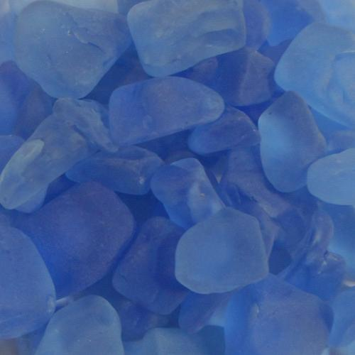 BEACH GLASS - LARGE PERIWINKLE