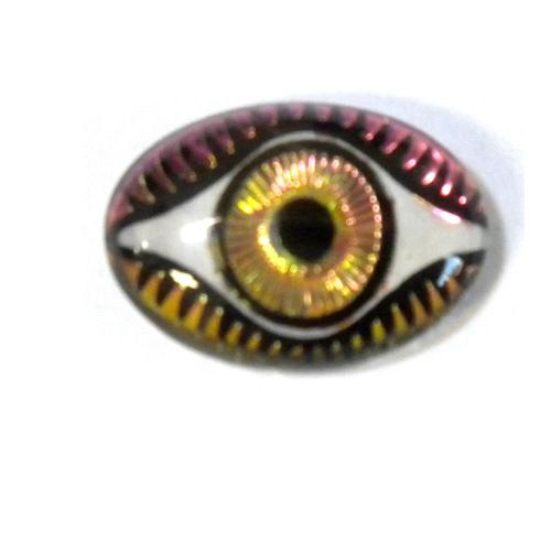 13MM X 18MM MYSTERIOUS EYES FUCHSIA/LIME
